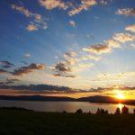 Západ i východ slunce nad Lipnem s úžasným výhledem na Šumavu