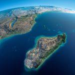 Madagaskar vzdalující se od Afriky