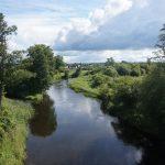 Meandry řeky Merkys v nejlesnatější části Litvy